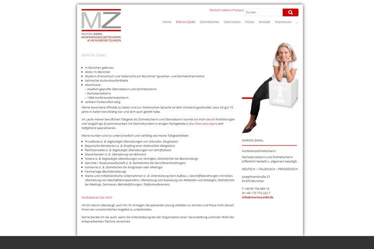 Webseite: www.marionzankl.de